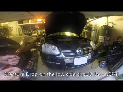 AC Pressure Control Valve Replacement VW Jetta MKV - YouTube
