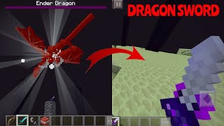 The Ender Dragons New Drop (Overpowered Dragon Sword) in Minecraft PE