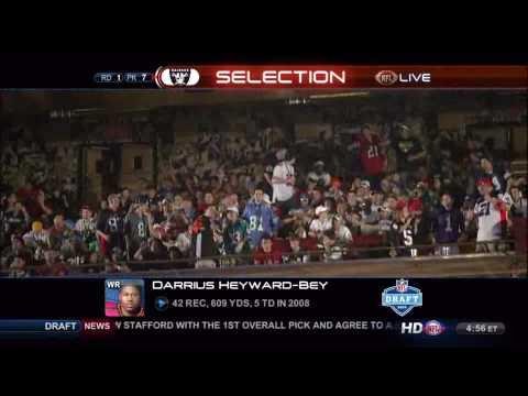 Darius Heyward Bey No.7 Pick 2009 NFL Draft Oakland Raiders