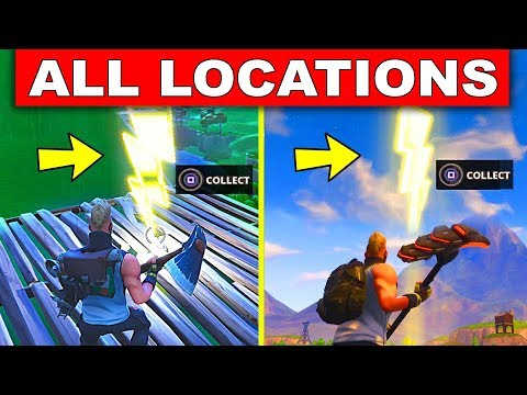 """Search Floating Lightning Bolts"" ALL 7 LOCATIONS WEEK 1 SEASON 5 CHALLENGES (Fortnite Season 5)"
