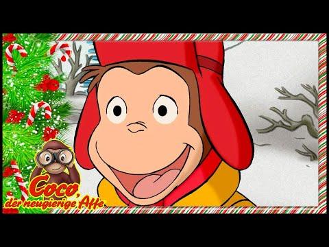 Coco der Neugierige Affe 🎄Weihnachten 🎁Schnee und heißer Kakao 🐵Ganze Folgen🐵Cartoons für Kinder
