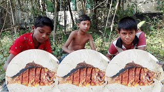 Fish Vegetables Curry Cooking Villagers | vegetable fish curry cooking for village orphans kids
