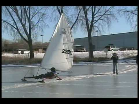 Ice Boating on Medicine Lake