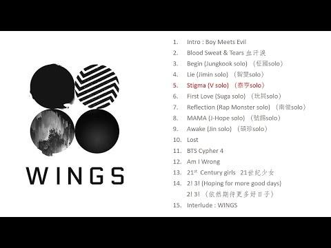 [Full Album] BTS - WINGS [with lyrics] (2nd regular album) [全專/附中字歌詞]