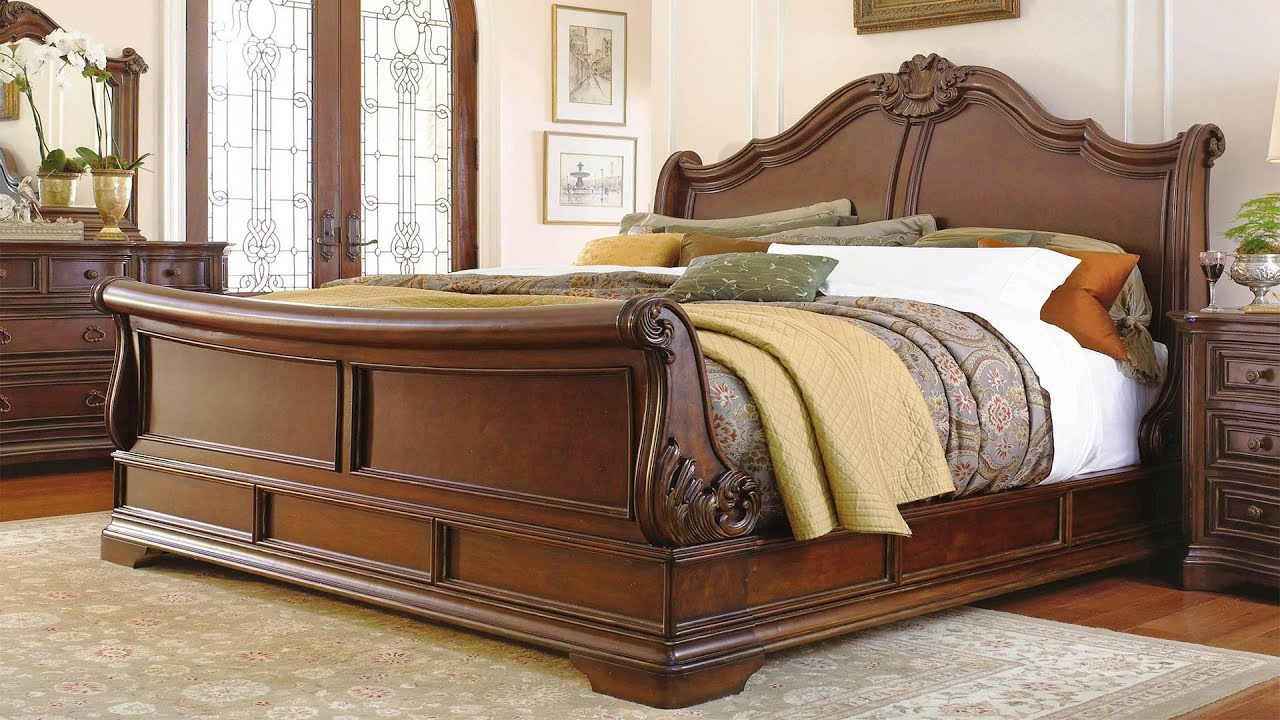 Top 8 Luxury Wooden Bed Design Large Bed Designs Youtube