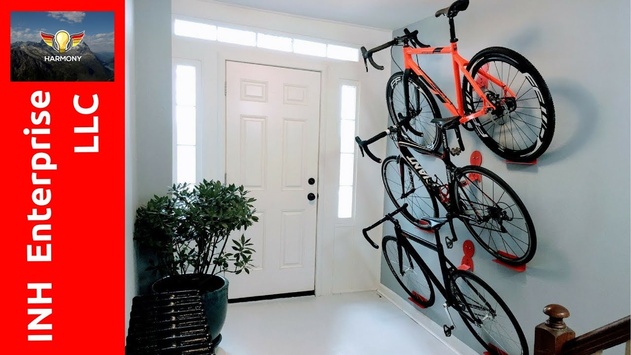 3 Amazing Wall Mounted Bike Rack Invention Ideas Youtube