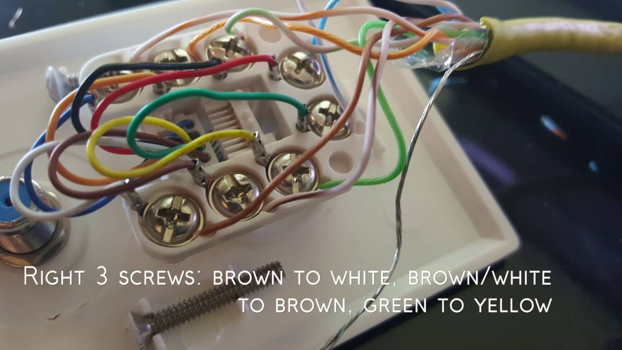 rj45 wall jack wiring how to connect a ethernet wall plate - youtube cat5 rj45 wall jack wiring #10