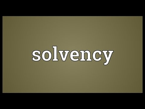 Solvency Meaning