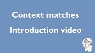 Context matches in six CAT tools - introduction video