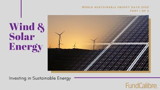 Investing in sustainable energy: wind & solar -- blowing hot and cold