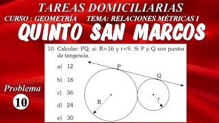 GEOMETRÍA - RELACIONES MÉTRICAS  EN EL TRIÁNGULO RECTÁNGULO PROBLEMA 10