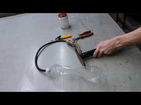 Вакуумный насос из ручного автомобильного насоса.