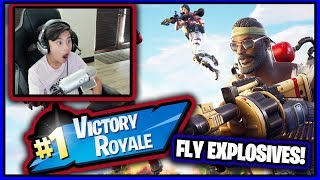 Fortnite FLY EXPLOSIVES! | Royale Bomber Skin!