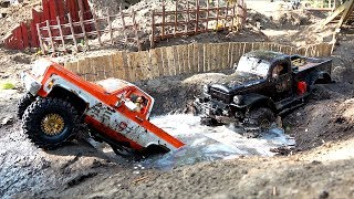 Two Trucks Compete on a Large Backyard Scale Trail Park | RC ADVENTURES
