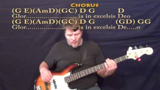 Angels We Have Heard On High (CHRISTMAS) Bass Guitar Cover Lesson with Lyrics/Chords