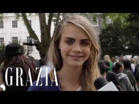 Cara Delevingne Interview at London Fashion Week | Grazia UK
