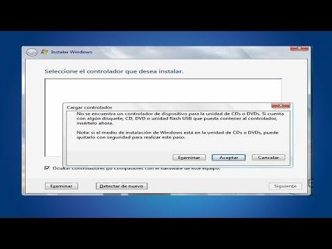 No detecta disco duro al instalar Windows 7 (Solución Real)