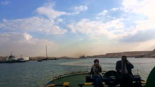 Group tour Mamish and Minister of Justice and the Governor of Ismailia on the Suez Canal