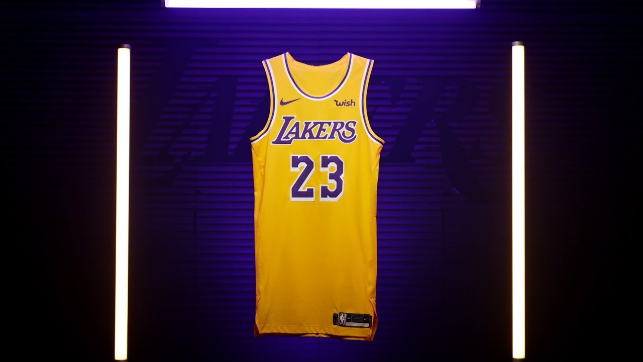 ca1d81d8cf4 Lakers unveil new uniforms with retro look to the 1980s Showtime era - Los  Angeles Times