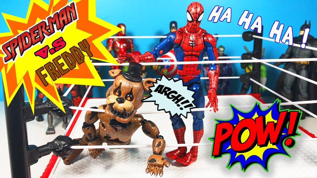 Örümcek Adam FNAF Freddy ye Karşı | Süper Oyuncaklar