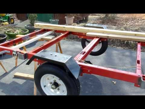 "Harbor Freight 1720 Lb. Capacity 48"" x 96"" Super Duty Utility Trailer Build Out"