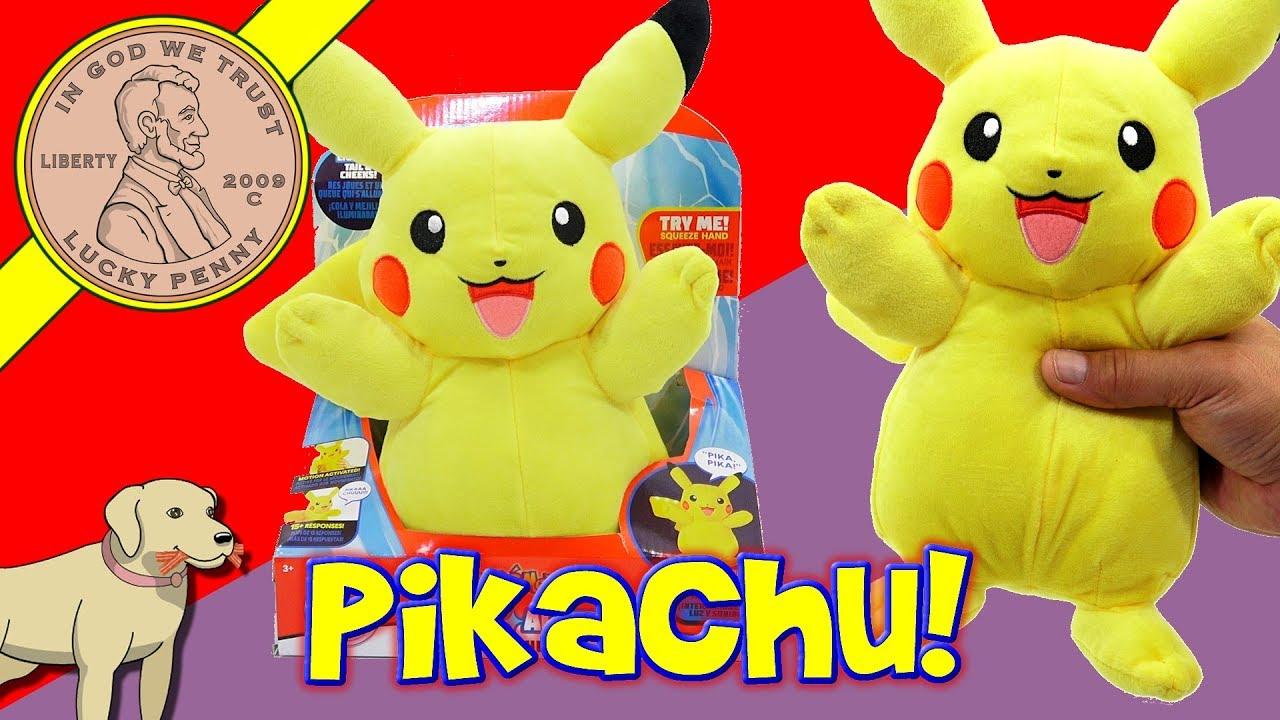 e74b9f789b5a0 Pokémon Power Action Light Up Pikachu - YouTube