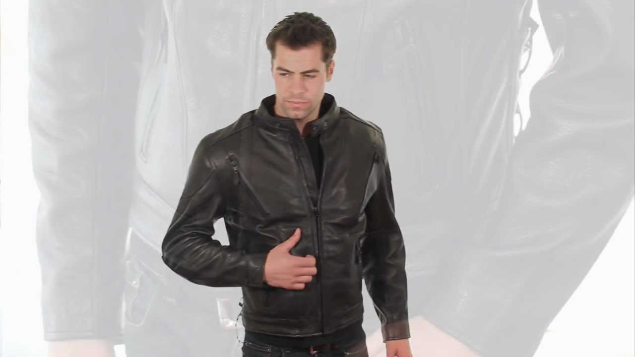 jacket in leather man Naked gay