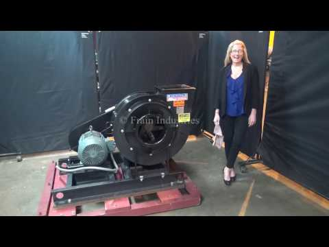 Industrial Centrifugal Blower and Airfoil Wheel Demonstration