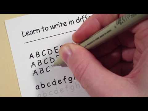 Learn To Write In Different Fonts: Comic Sans