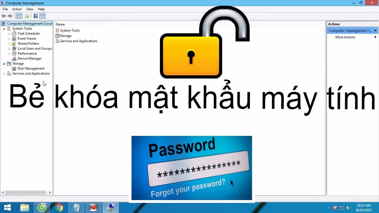 Hướng dẫn bẻ khóa mật khẩu máy tính Win 7