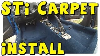 DIY | STi Blue Carpet UNBOXING & INSTALL | 2004 WRX