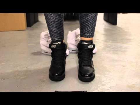 "Wmns Nike Air  Revolution Sky Hi  ""Black/Silver"" - On Feet Video @ Exclucity"