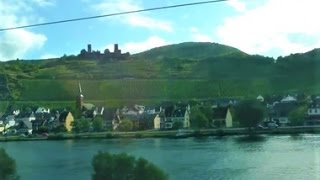 Wonderful Moselle River views, from the train (the Koblenz to Treis-Karden, Germany route)