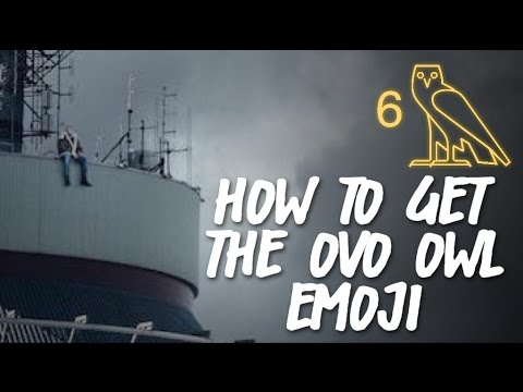 HOW TO GET THE OVO OWL EMOJI ⁶𓅓