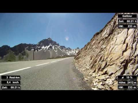 Indoor Cycling Training: Col du Galibier (Alpen / Frankreich) - in full length!!! (Part 3/3)