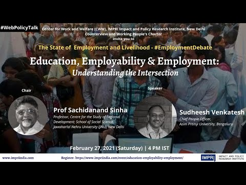 #EmploymentDebate | E7 | Sudheesh Venkatesh | Employment, Employability and Education