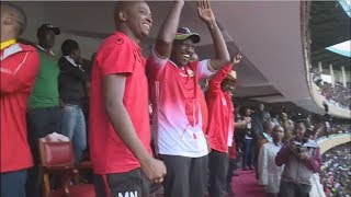 DP William Ruto joins thousands in supporting Harambee Stars