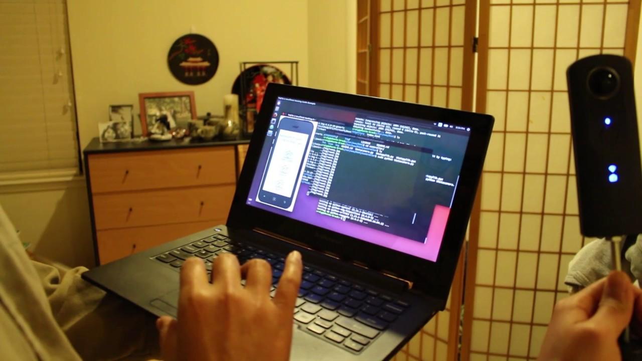 A-Frame Demo With RICOH THETA API