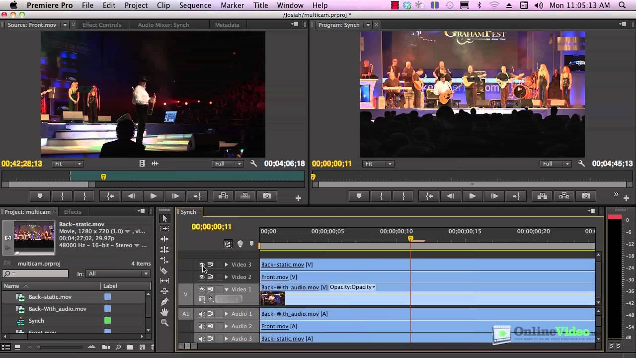 Multicamera Editing in Adobe Premiere Pro CS6