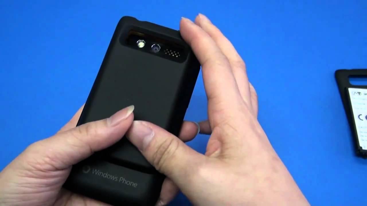 HTC 7 Trophy T8686 3600mAh Mugen Power extended battery HLI ...