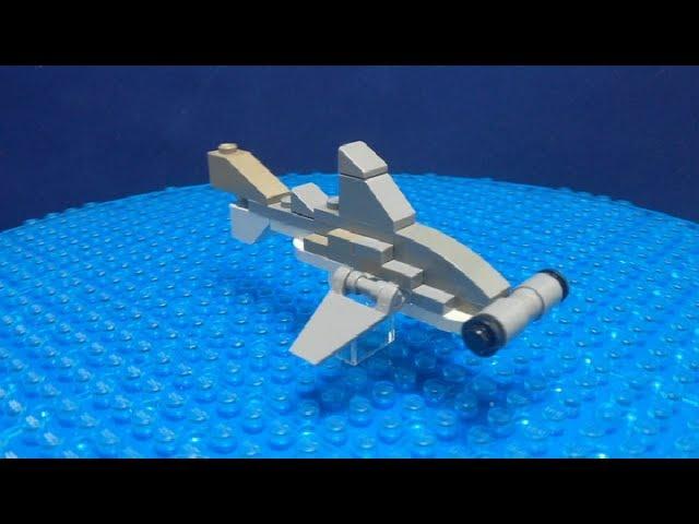 LEGO mini build. Hammerhead Shark. Shark Week custom instructions!