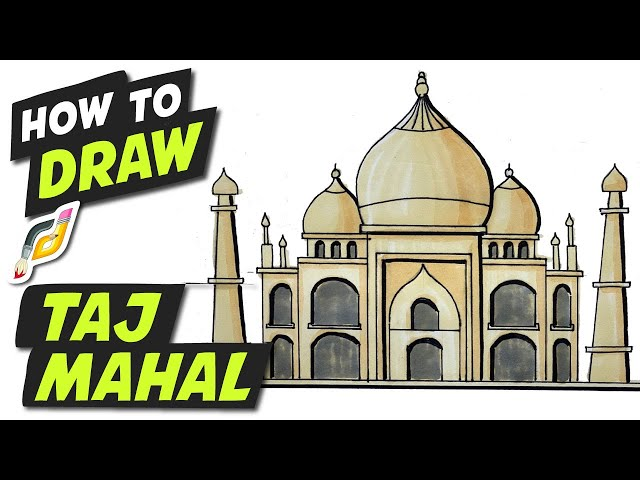 How to Draw TAJ MAHAL - Easy Fun Simple step by step - Beginner