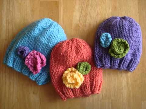 Knitting Pattern Central Baby Hats : Knitting Pattern Ideas- Free Baby Hats Knitting Pattern Romance - YouTube