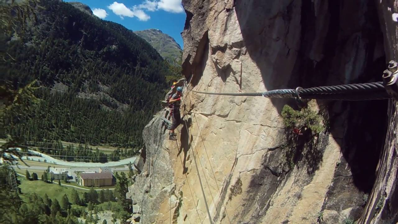 Klettersteig La Resgia : Ferrate la resgia di pontresina youtube