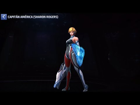 Armadura de LUZ Estelar SHARON ROGERS Hija del Capitan América Uniforme Comparación Marvel Future