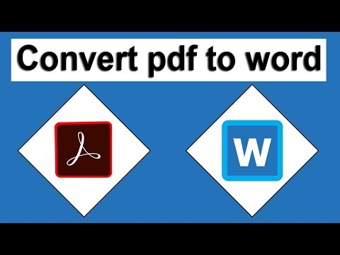 How To Convert And Export PDF To Word In Adobe Acrobat Pro DC