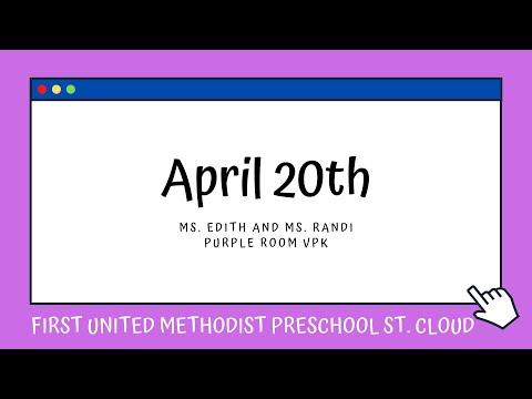 Purple Room VPK   April 20   First United Methodist Preschool St  Cloud