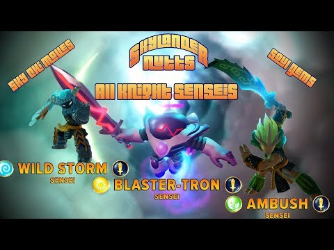 Skylanders Imaginators - All Knight Senseis (Sky Chi, Soul Gems + Other Speech and Animations)