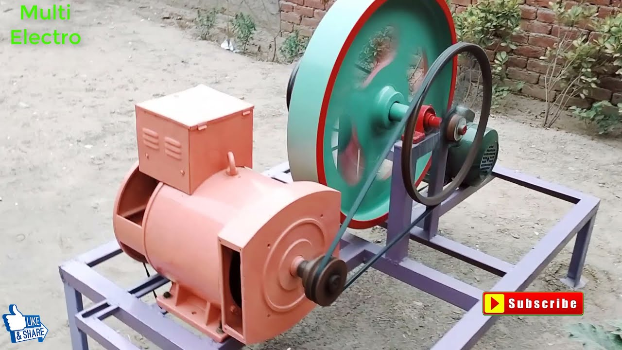 how to make 17kw free energy generator from 3hp motor and 17kw alternator  with full rpm calculation