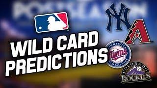 2017 MLB WILD CARD GAME PREDICTIONS! | 2017 MLB Postseason Predictions